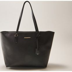 Shopper bag damskie: Torba typu shopper - Czarny
