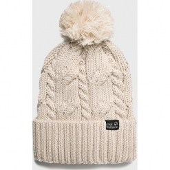 Jack Wolfskin - Czapka/kapelusz 1905091. Szare czapki zimowe męskie Jack Wolfskin, na zimę, z dzianiny. Za 129,90 zł.