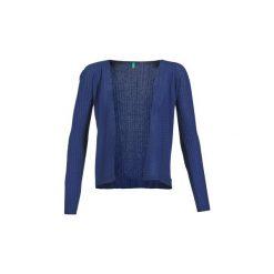 Swetry rozpinane / Kardigany Benetton  ITINE. Niebieskie kardigany damskie marki Benetton, l. Za 207,20 zł.