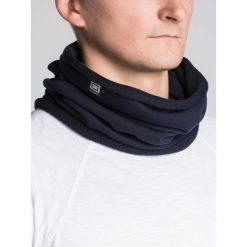 KOMIN MĘSKI A063 - GRANATOWY. Niebieskie szaliki męskie Ombre Clothing, z bawełny. Za 14,99 zł.