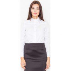Koszule body: Biała Klasyczna Koszula z Lamówkami