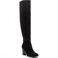 Muszkieterki NESSI - 732/825 Czarny 19. Czarne buty zimowe damskie marki Nessi, z materiału, na obcasie. W wyprzedaży za 259,00 zł.