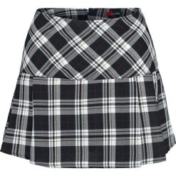 Hell Bunny Scotish Mini Skirt Spódnica czarny/biały. Białe minispódniczki Hell Bunny, xl. Za 121,90 zł.