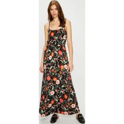 Vero Moda - Sukienka. Szare długie sukienki Vero Moda, na co dzień, m, z materiału, casualowe, z okrągłym kołnierzem, na ramiączkach, proste. Za 129,90 zł.