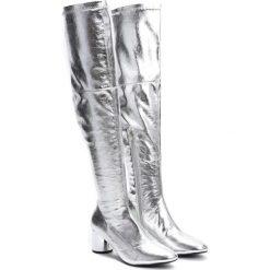 Srebrne Kozaki Go Into Your Mind. Czarne buty zimowe damskie marki Kazar, ze skóry, na wysokim obcasie. Za 159,99 zł.