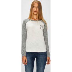 Roxy - Bluzka. Szare bluzki z odkrytymi ramionami marki Roxy, l, z bawełny, casualowe, z okrągłym kołnierzem. Za 149,90 zł.