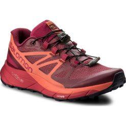 Buty SALOMON - Sense Ride W 398486 Sangria/Living Coral/Virtual Pink. Czarne buty do biegania damskie marki Salomon, z gore-texu, na sznurówki, gore-tex. W wyprzedaży za 389,00 zł.