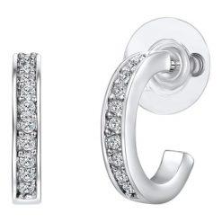 Biżuteria i zegarki: Kolczyki-wkrętki ze szklanymi kryształkami