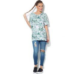 Colour Pleasure Koszulka damska CP-033 278 biało-miętowa r. uniwersalny. Białe bluzki damskie marki Colour pleasure, uniwersalny. Za 76,57 zł.
