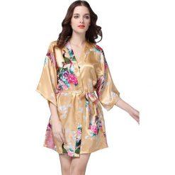 Szlafroki kimona damskie: Szlafrok w kolorze ecru