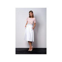 Biała elegancka rozkloszowana spódnica VEGA. Białe spódnice wieczorowe Duhla agnieszka barańska, z poliesteru, koszulowe. Za 280,00 zł.