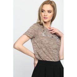 T-shirty damskie: Khaki T-shirt I See You