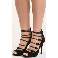 Czarne Szpilki Batani. Czarne sandały damskie marki Born2be, ze skóry, na wysokim obcasie, na stożku. Za 89,99 zł.