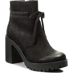 Botki KARINO - 2143/003-F Czarny. Fioletowe buty zimowe damskie marki Karino, ze skóry. W wyprzedaży za 249,00 zł.