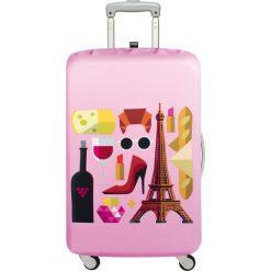 Pokrowiec na walizkę LOQI Hey Paris. Różowe walizki LOQI, z elastanu. Za 114,00 zł.