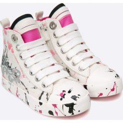 Geox - Trampki dziecięce. Szare buty sportowe dziewczęce Geox, z gumy. W wyprzedaży za 219,90 zł.