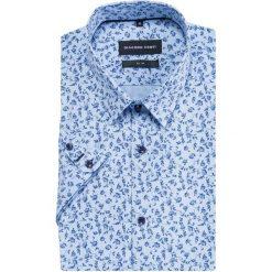 Koszula SIMONE slim KKWS000030. Brązowe koszule męskie slim marki QUECHUA, m, z elastanu, z krótkim rękawem. Za 229,00 zł.