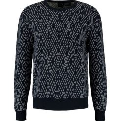 Armani Exchange Sweter dunkelblau. Czarne kardigany męskie marki Armani Exchange, l, z materiału, z kapturem. W wyprzedaży za 343,85 zł.