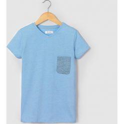 Bluzki dziewczęce: Koszulka z kontrastujacą kieszenią 10-16 lat