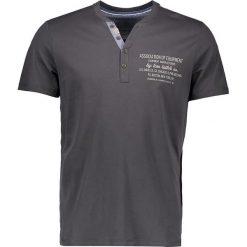 """T-shirty męskie z nadrukiem: Koszulka """"Henley"""" w kolorze szarym"""