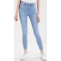 New Look DISCO FRAY Jeans Skinny Fit blue. Czarne jeansy damskie marki New Look, z materiału, na obcasie. W wyprzedaży za 125,10 zł.