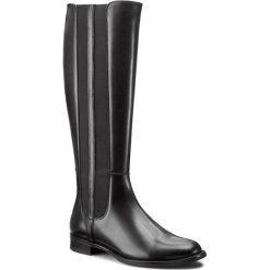 Oficerki GINO ROSSI - Nevia DKG650-G12-E100-9900-F 99. Czarne buty zimowe damskie marki Gino Rossi, z materiału, przed kolano, na wysokim obcasie. W wyprzedaży za 359,00 zł.