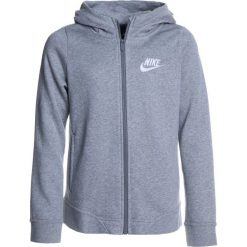 Nike Performance HOODIE CLUB  Bluza rozpinana dark grey heather/white. Szare bluzy chłopięce rozpinane marki Nike Performance, z bawełny. W wyprzedaży za 139,30 zł.