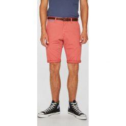Tom Tailor Denim - Szorty. Pomarańczowe szorty męskie TOM TAILOR DENIM, w paski, z bawełny, casualowe. W wyprzedaży za 149,90 zł.