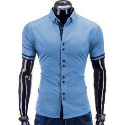 Koszule męskie: KOSZULA MĘSKA Z KRÓTKIM RĘKAWEM K260 – NIEBIESKA