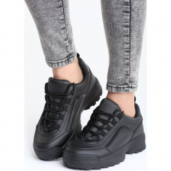 Czarne Sneakersy Get This. Czarne sneakersy damskie vices, z materiału. Za 89,99 zł.