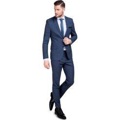 Garnitur w kratę GANS000047. Niebieskie garnitury marki Giacomo Conti, m, z tkaniny, klasyczne. Za 699,00 zł.