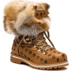 Buty zimowe damskie: Śniegowce MONTELLIANA - Seicento M1749 Brown