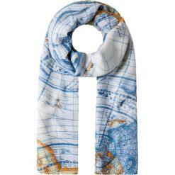 Szaliki damskie: Szal w kolorze biało-niebieskim – 100 x 180 cm