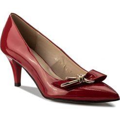 Półbuty SAGAN - 3151 Czerwony Lakier. Czerwone półbuty damskie lakierowane Sagan, z lakierowanej skóry, eleganckie, na obcasie. W wyprzedaży za 199,00 zł.
