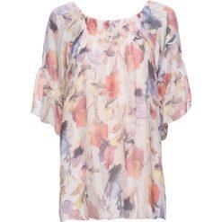 Bluzki damskie: Bluzka z jedwabiu bonprix dymny różowy w kwiaty