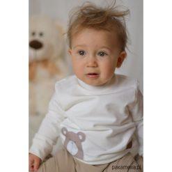 Kremowa bluza dziecięca BEAR. Czerwone bluzy dziewczęce rozpinane marki Pakamera, z dzianiny. Za 85,00 zł.