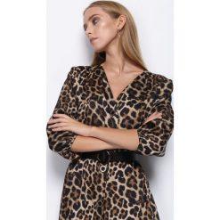 Sukienki: Czarno-Brązowa Sukienka Now Or Never