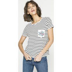 Roxy - Top. Szare topy damskie marki Roxy, m, z aplikacjami, z bawełny, z okrągłym kołnierzem. W wyprzedaży za 119,90 zł.