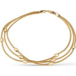 Piękna Bransoletka Złota - złoto żółte 585. Żółte bransoletki damskie na nogę W.KRUK, złote. Za 2090,00 zł.