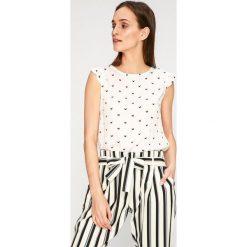 Answear - Top Stripes Vibes. Szare topy damskie ANSWEAR, l, z bawełny, z okrągłym kołnierzem. W wyprzedaży za 49,90 zł.
