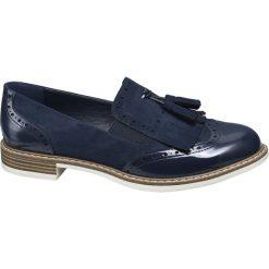 Lordsy damskie Graceland niebieskie. Czarne lordsy damskie marki Graceland, w kolorowe wzory, z materiału. Za 99,90 zł.