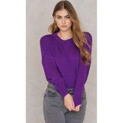 Swetry klasyczne damskie: Trendyol Sweter z długim tyłem – Purple