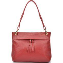 Torebki i plecaki damskie: Skórzana torebka w kolorze czerwonym – (S)33 x (W)25 x (G)10 cm