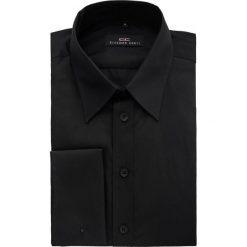 Koszula CARLO slim 14-10-02. Czarne koszule męskie na spinki Giacomo Conti, m, z bawełny, z klasycznym kołnierzykiem, z długim rękawem. Za 199,00 zł.