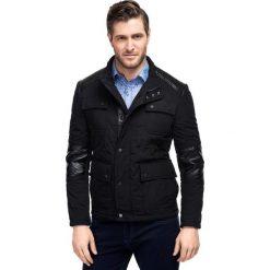 Kurtka FLAVIO 14-12LK. Czarne kurtki męskie pikowane marki Giacomo Conti, m, z bawełny, z klasycznym kołnierzykiem. Za 599,00 zł.