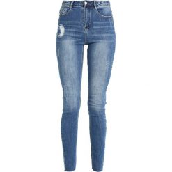 Missguided CLEAN SINNER HIGH WAIST AUTHENTHIC  Jeans Skinny Fit mid blue. Niebieskie jeansy damskie relaxed fit marki Missguided, z bawełny, z podwyższonym stanem. Za 139,00 zł.