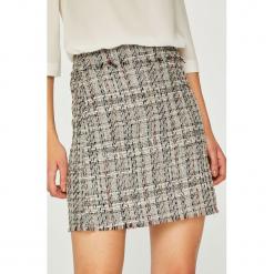 Trendyol - Spódnica. Szare minispódniczki marki Trendyol, z bawełny, dopasowane. Za 69,90 zł.