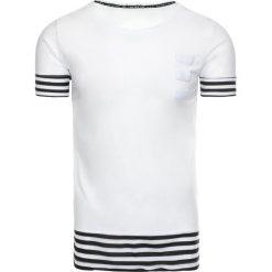 T-shirty męskie z nadrukiem: T-shirt męski z nadrukiem biały (rx1930)