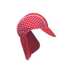 Playshoes  Czapka z filtrem UV 50+ kolor czerwony, kropki. Czerwone czapeczki niemowlęce Playshoes, w kropki. Za 49,00 zł.