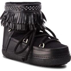 Buty INUIKII - Boot Fringes 70101-31 Black. Czarne buty zimowe damskie Inuikii, ze skóry, na niskim obcasie. Za 1639,00 zł.